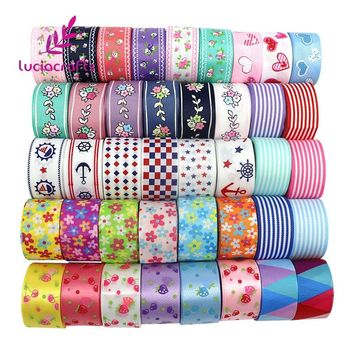 Lucia crafts Mix Printed Trim Geometric Ribbons DIY Wrapping/Wedding/Party/Hair Bow Decoration Art Sewing Accessories 040054006