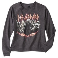 Juniors Def Leppard Graphic Sweatshirt - Black