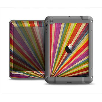 The Vinatge Sprouting Ray of colors Apple iPad Air LifeProof Nuud Case Skin Set