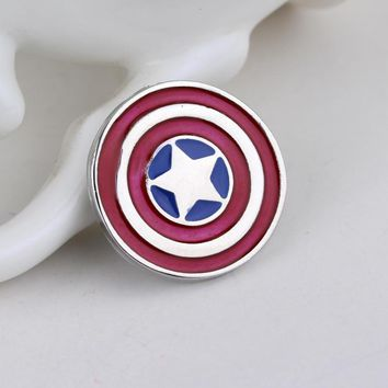 The Avengers 3 Deadpool Ghostbusters Batman Brooch Pins Flash Captain America Superman Brooches for men badge Jewelry