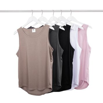 2018 fashion tank top hip hop streetwear kanye west cotton black white justin bieber fear of god body mens clothing tshirt