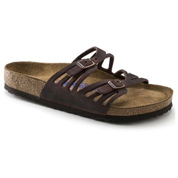 Women's Granada Sandal in Habana Oiled Leather with Soft Footbed by Birkenstock