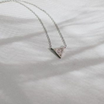 Zodiac Charm Necklace In Silver - Cancer