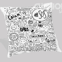 5sos collage Pillow Cover
