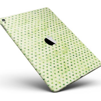 """Tiny Mint Watercolor Hearts Full Body Skin for the iPad Pro (12.9"""" or 9.7"""" available)"""
