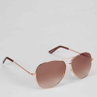 Rose Gold Aviator Sunglasses - Rose One