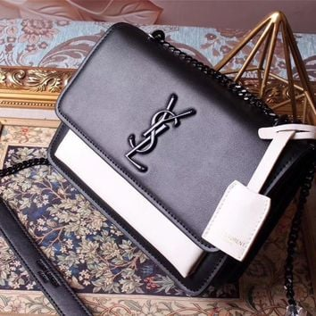 Ysl Saint Laurent Classic Leather Chain Shoulder Bag
