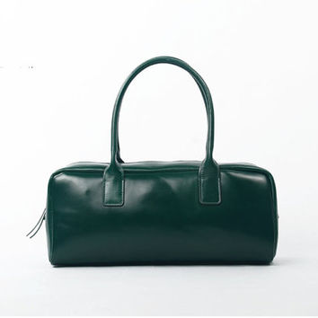 Shoulder Handbag  Dark green Suitcase shape Over the Shoulder Handbags Purses Leather bag