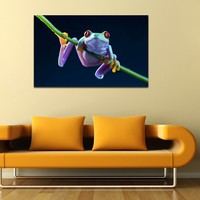 canik150 Canvas Print Stretched frog amphibian animal 26x43""