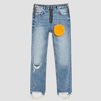 JEANS WITH ZIP DETAILS