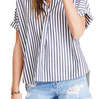 Madewell Stripe Courier Shirt | Nordstrom