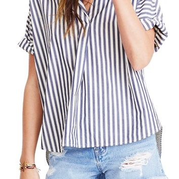 Madewell Stripe Courier Shirt   Nordstrom