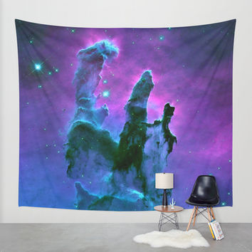 Nebula Wall Tapestry by 2sweet4words Designs