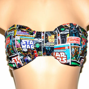 STAR WARS Vintage Bow Bandeau, Star Wars Vintage Comic Bow Style Bandeau, Hipster Tumblr Fashion