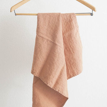 Linen Tea Towel - Terracotta
