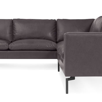 New Standard Leather Sectional Sofa - Small