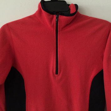 Sale!! Vintage Womens The North Face Polartec Casual training running pullover jacket red sweater Free shipping within the USA