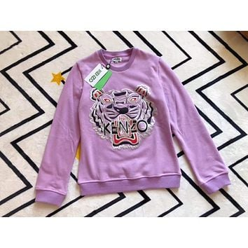 KENZO Fashion Round Neck Top Sweater Pullover Sweatshirt