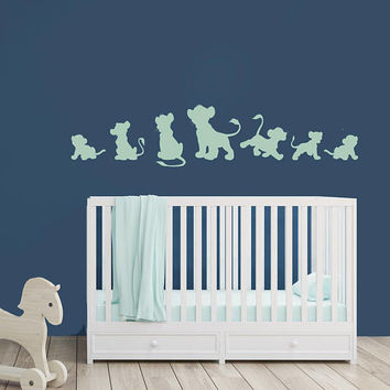 Lion Nursery Decor - Vinyl Wall Decal, Boys room decor, Boy Wall Art, Brother Saying, Safari Nursery, Jungle Animals, Boy Nursery Decoration