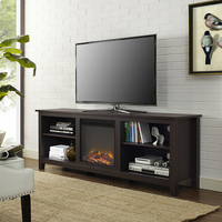 "70"" Fireplace TV Stand - Espresso"