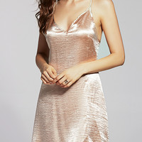 Pure Color Cami Satin Dress