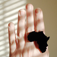 Africa Ring Lasercut Acrylic Adjustable Ring by purpleandlime