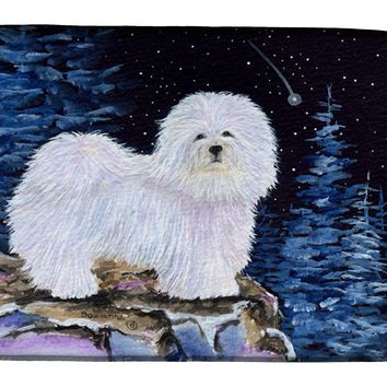 Starry Night Coton de Tulear Dish Drying Mat SS8437DDM
