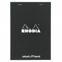 Rhodia black A5 stapled pad with dot pages - Notebooks - Stationery