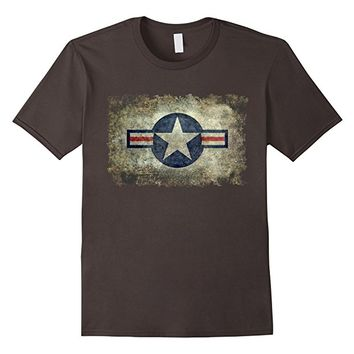Vintage Retro Style Star Air Force Roundel Symbol T-Shirt