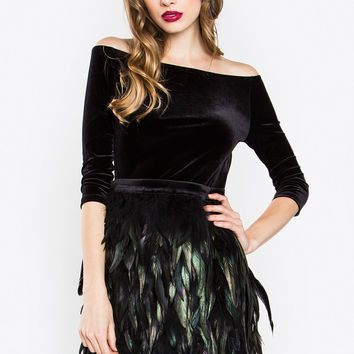 EMERALD FEATHER DRESS