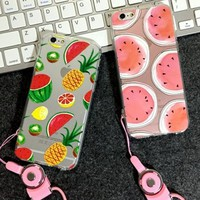 Fruits iPhone 5s 6 6s Plus Case + Rope-170928