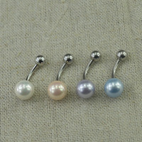 belly button jewelry pearl belly button ring nautical belly ring,pearl belly ring,belly piercing