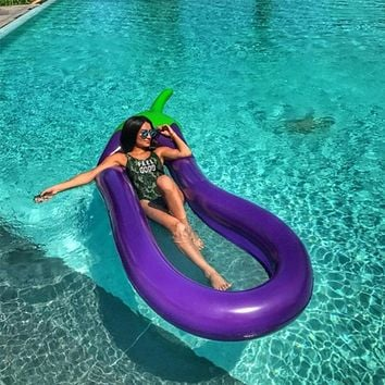 Inflatable Pool Floats Raft Swimming Ring Water Floating Toys (Eggplant)  Water Fun Pool Toy Kids Swimming Ring