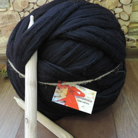 Merino Wool, Chunky Yarn, Super Chunky Yarn, Giant Yarn, Extrafine Merino Wool 21 micron, Merino wool roving, 34 ounces