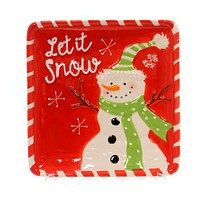 Tabletop Winter's Frost Snowman Plate Christmas Tabletop