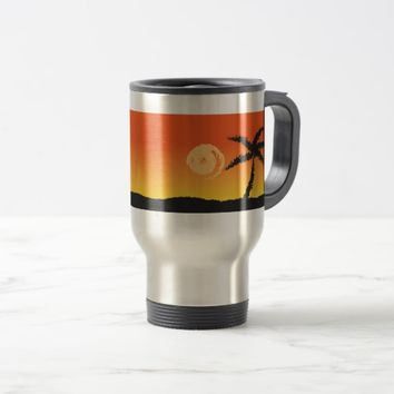 Island Sunset Travel Mug