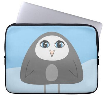 Geometric Cute Cartoon Penguin Laptop Sleeve