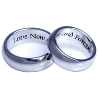Couples Ring Two Rings Love Now and Forever Perfect Wedding Band for Men and Women Lovers Jewelry Gifts