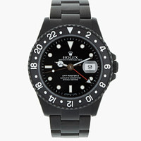 Black Limited Edition Matte Black Limited Edition Rolex Gmt Master Ii for men | SSENSE