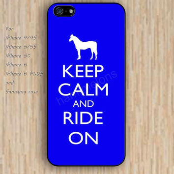 iPhone 6 case blue horse keep calm iphone case,ipod case,samsung galaxy case available plastic rubber case waterproof B104