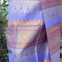 woman's Thai sarong Traditional pattern purple and gold T1 - Edit Listing - Etsy