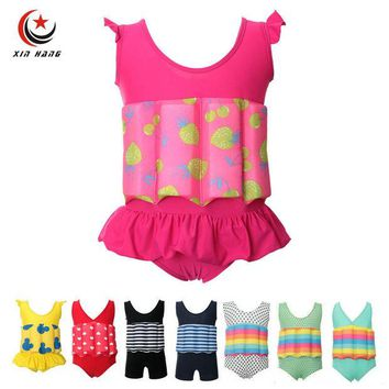 DCCKNY6 Girls Baby Buoyancy Swimwear Kids Swim Float Suits Learn To Swim Tools Boys Surfing Swimming Life Vest Water Safety Swim Cloth