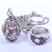 Cos Puella Magi Madoka Magica Soul Gem Ring and Necklace Set Free Ship SP140381 from SpreePicky