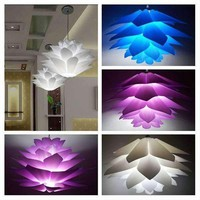 DIY Lotus Chandelier PP Pendant Lampshade Ceiling Room Decoration Puzzle Lights Modern Lamp Shade