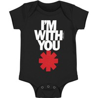 Red Hot Chili Peppers Boys' I'm With You Red Bodysuit Black
