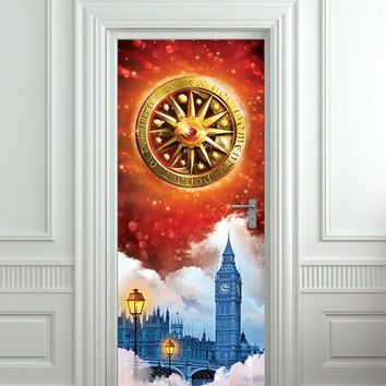 "Door STICKER Rubinrot Timeless ruby book movie magical mural decole film self-adhesive poster 30x79""(77x200 cm)"