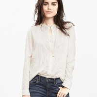 Banana Republic Womens Mosaic Embroidery Blouse