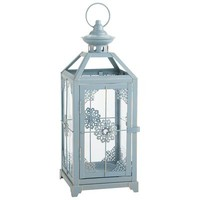 Medium Jeweled Lantern - Blue