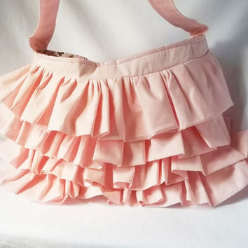 Pink ruffle hobo bag - Girly pink ruffle handbag  - Customized handbags