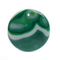Green and White Onyx Pendant